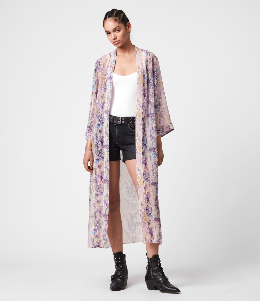 Womens Carine Masala Kimono (mink_pink) - Image 3