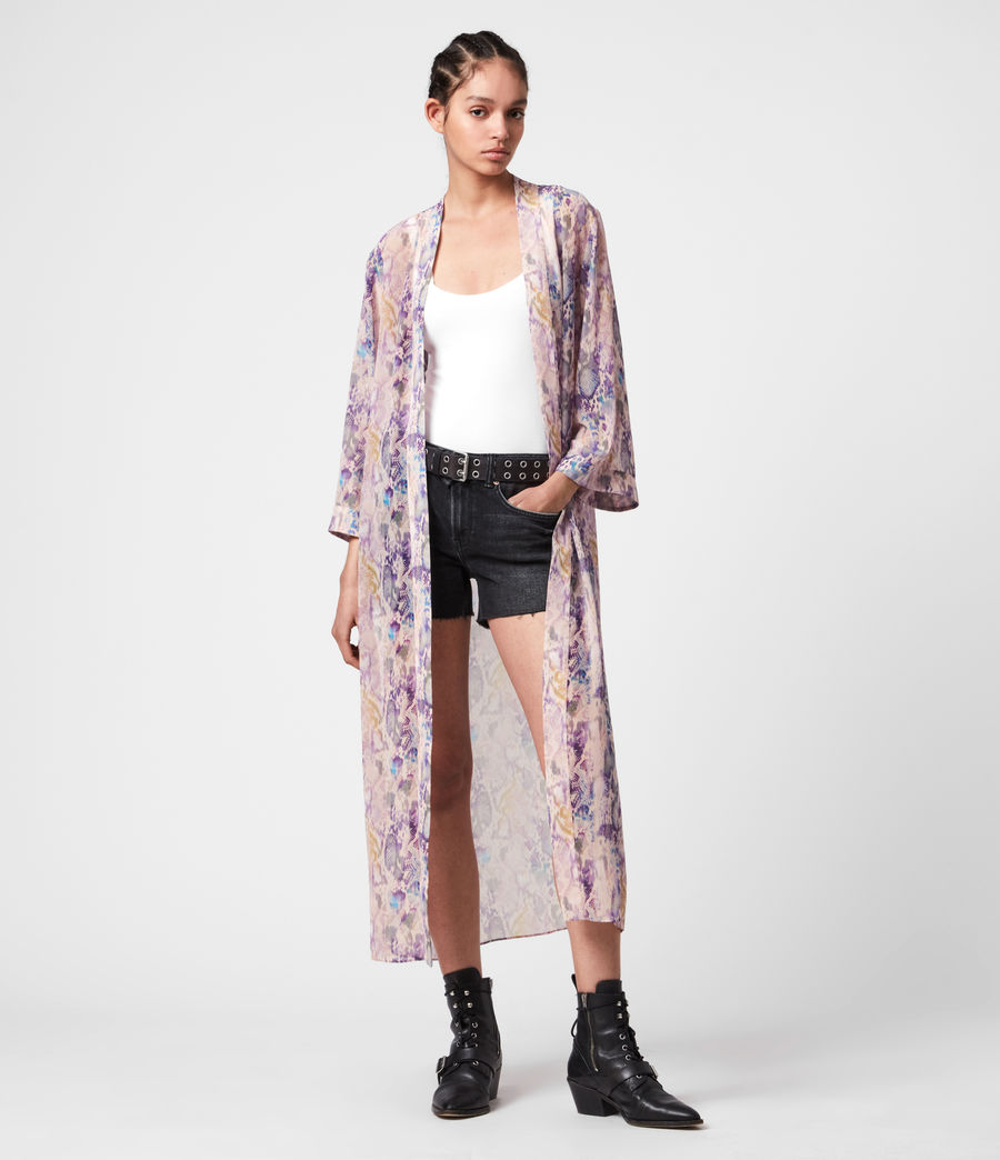 Womens Carine Masala Kimono (mink_pink) - Image 4