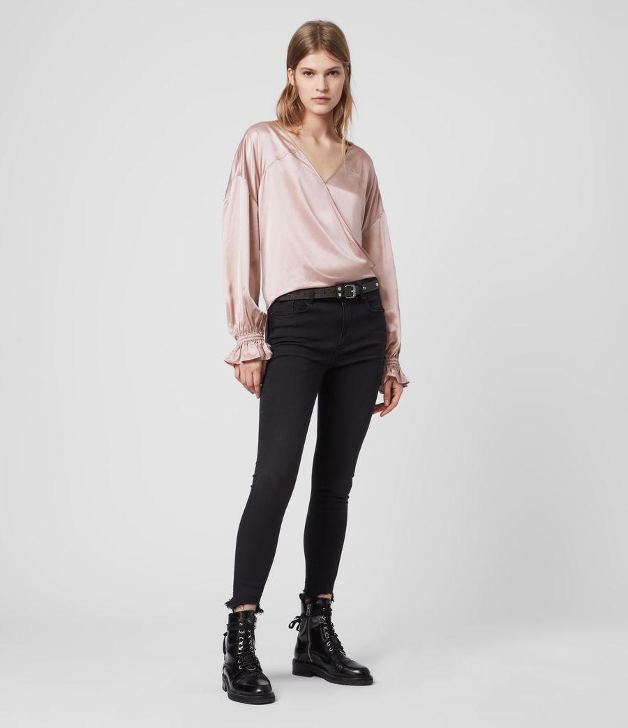 Femmes Top en Soie Mélangée Penny (dusty_pink) - Image 1