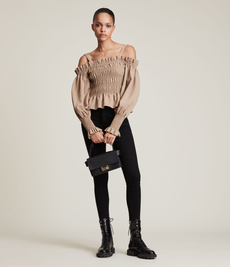 Femmes Lary Top (sand_brown) - Image 1