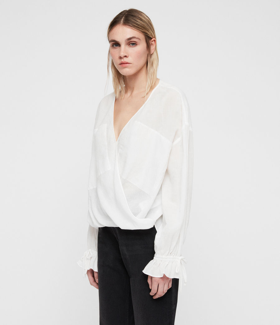 Womens Penny Top (chalk_white) - Image 4