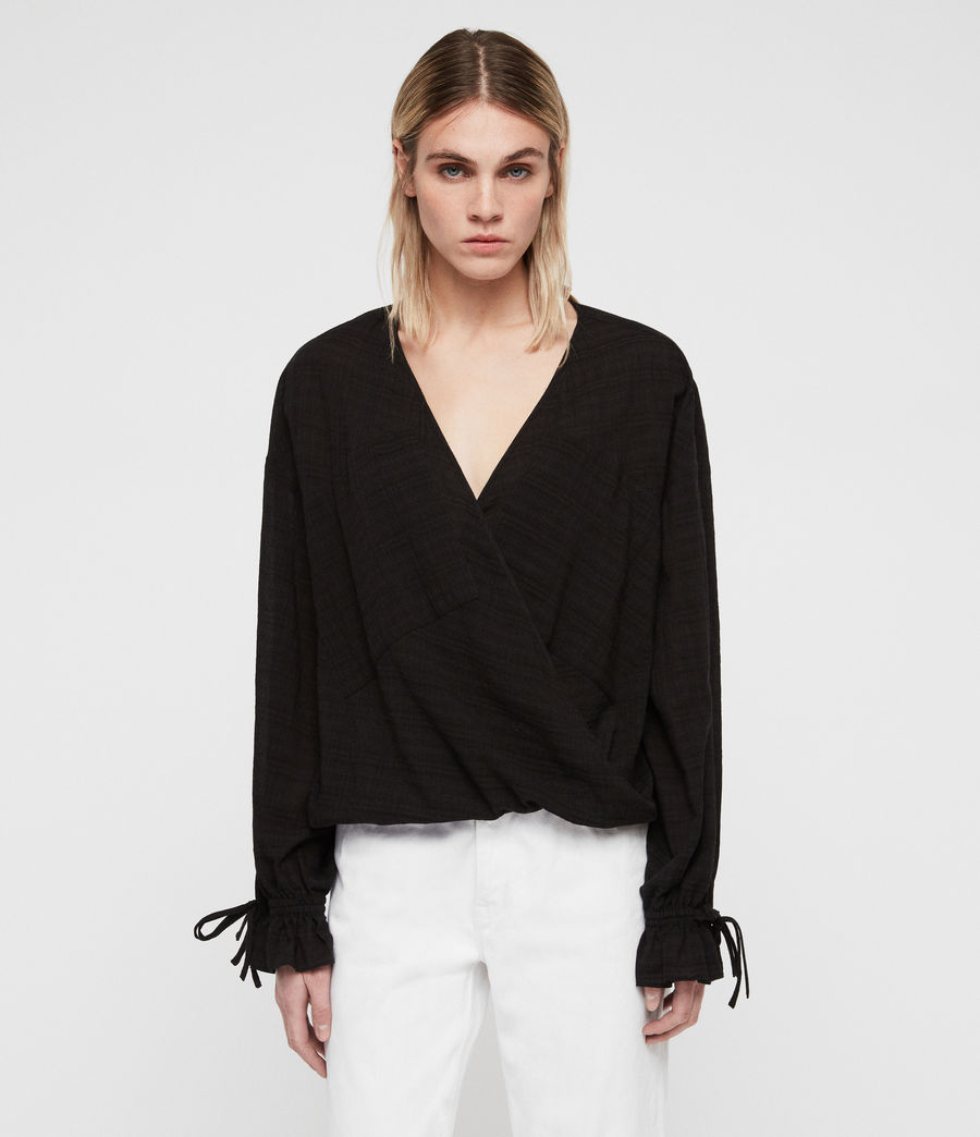 Womens Penny Top (black) - Image 1