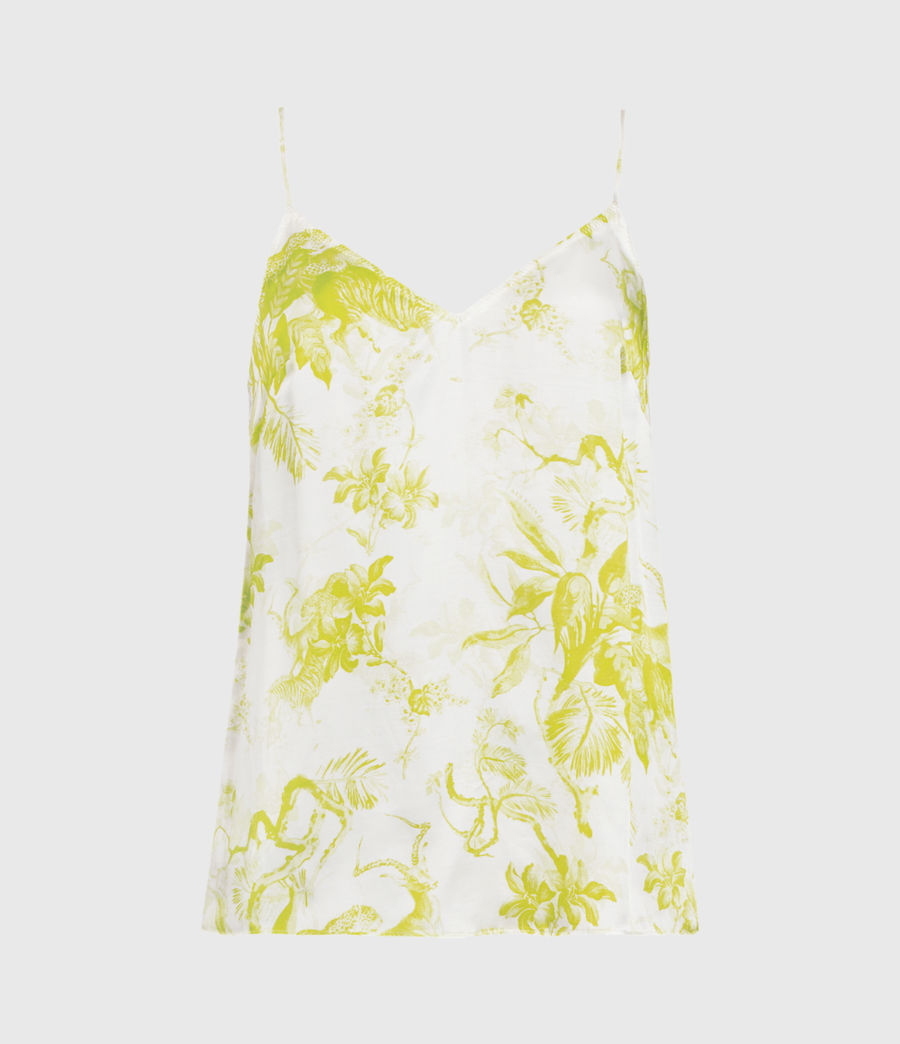 Womens Tami Riyaz Silk Blend Top (chartreuse_yellow) - Image 1