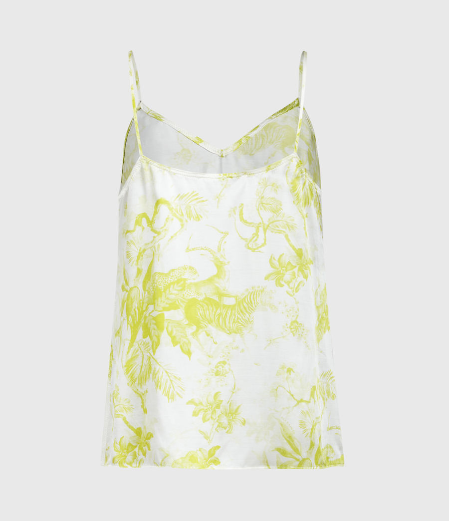 Womens Tami Riyaz Silk Blend Top (chartreuse_yellow) - Image 2