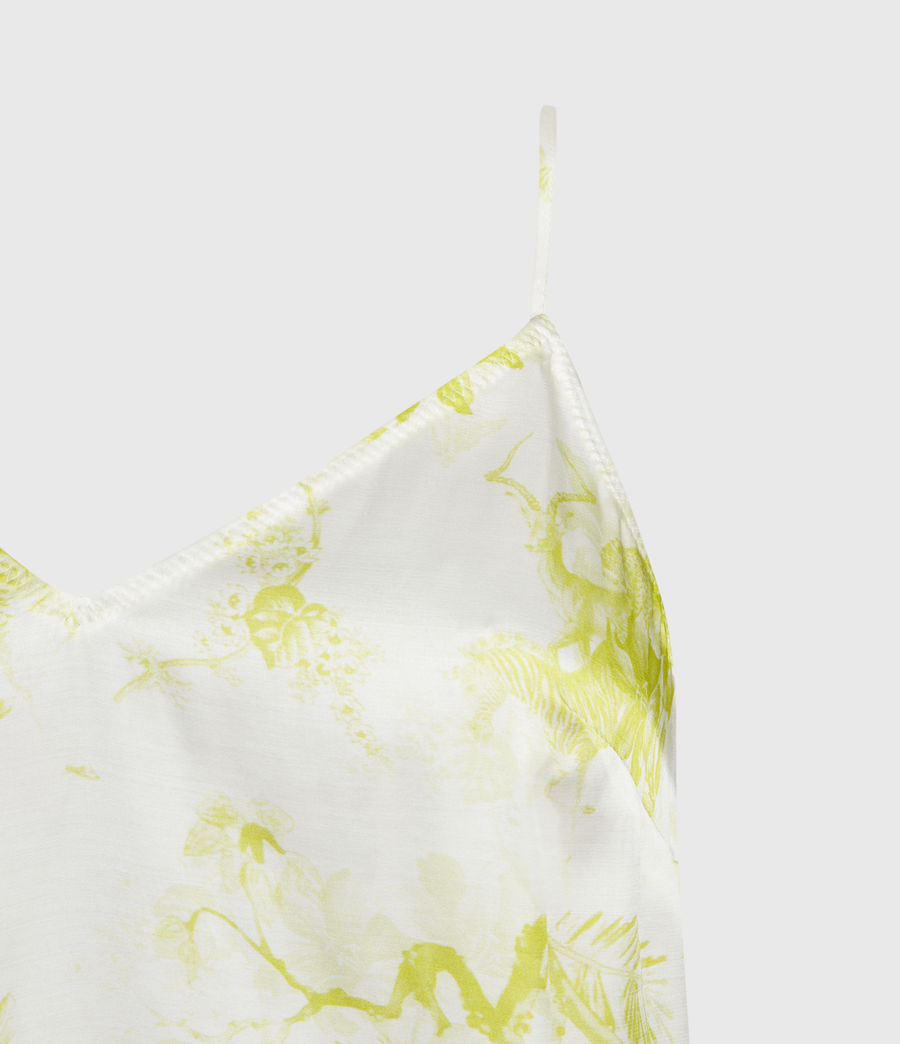 Womens Tami Riyaz Silk Blend Top (chartreuse_yellow) - Image 3
