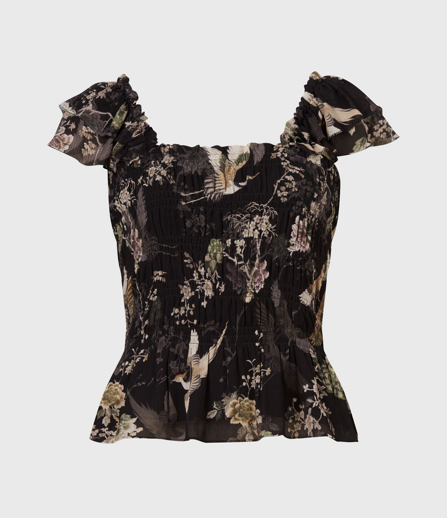 Women's Mali Amare Top (black) - Image 2