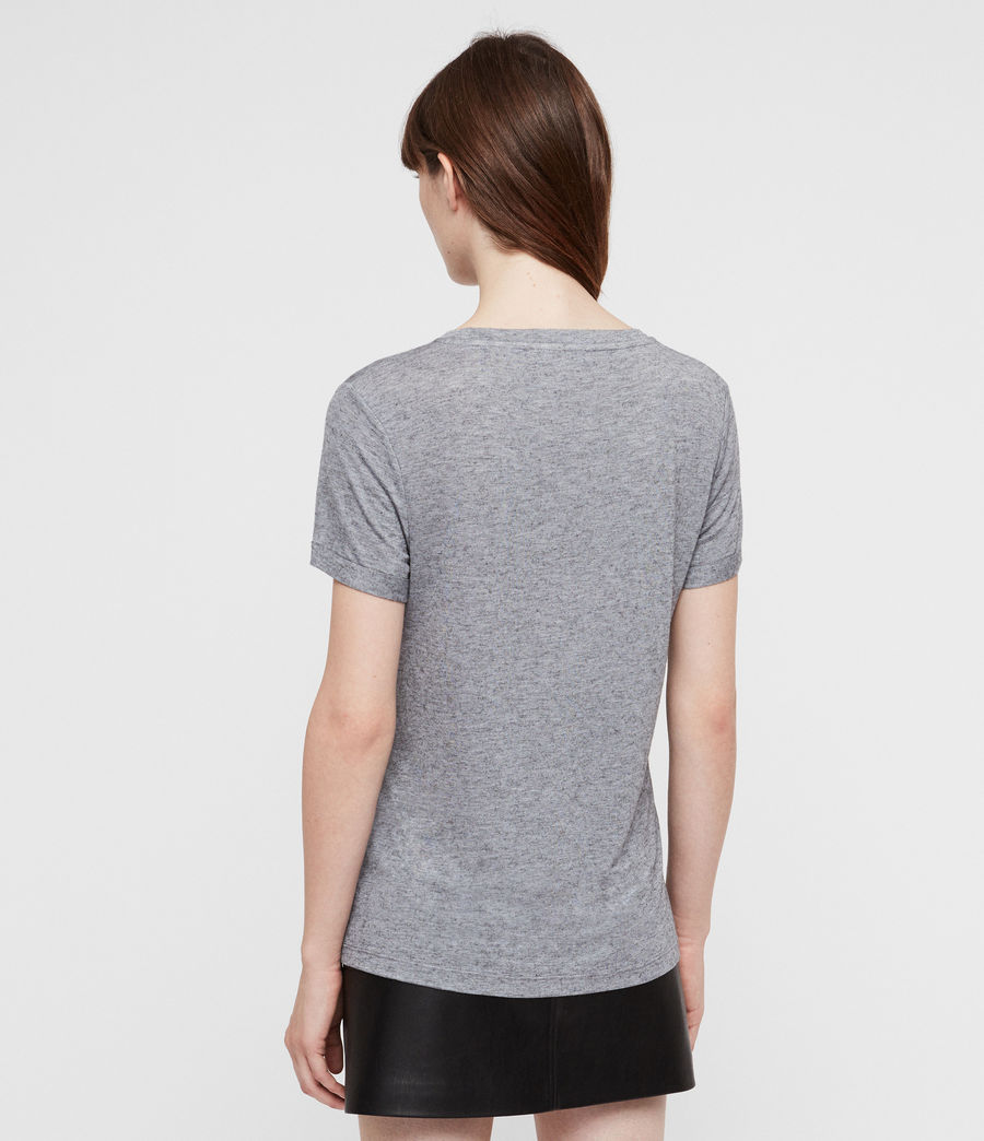 Women's Yato T-Shirt (grey_marl) - Image 4