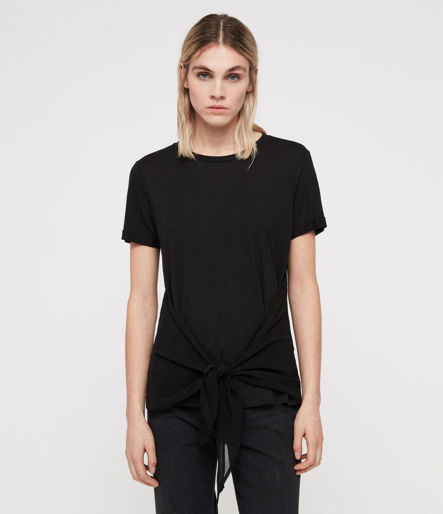 Femmes T-Shirt Yato (black) - Image 1