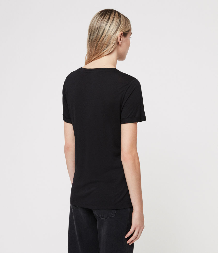Femmes T-Shirt Yato (black) - Image 4