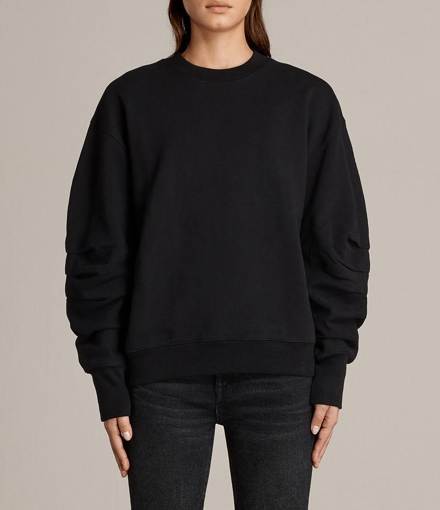 Women's Violet Crew Sweatshirt (jet_black) - Image 1