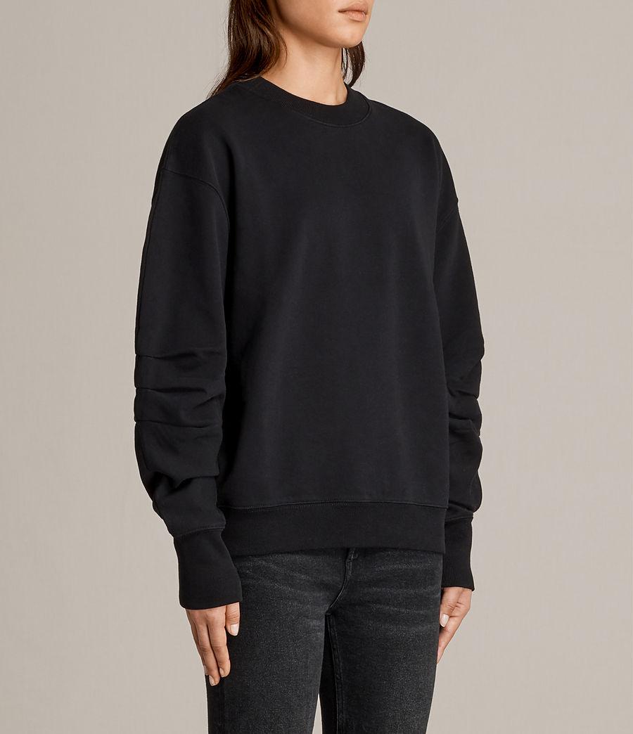 Women's Violet Crew Sweatshirt (jet_black) - Image 2