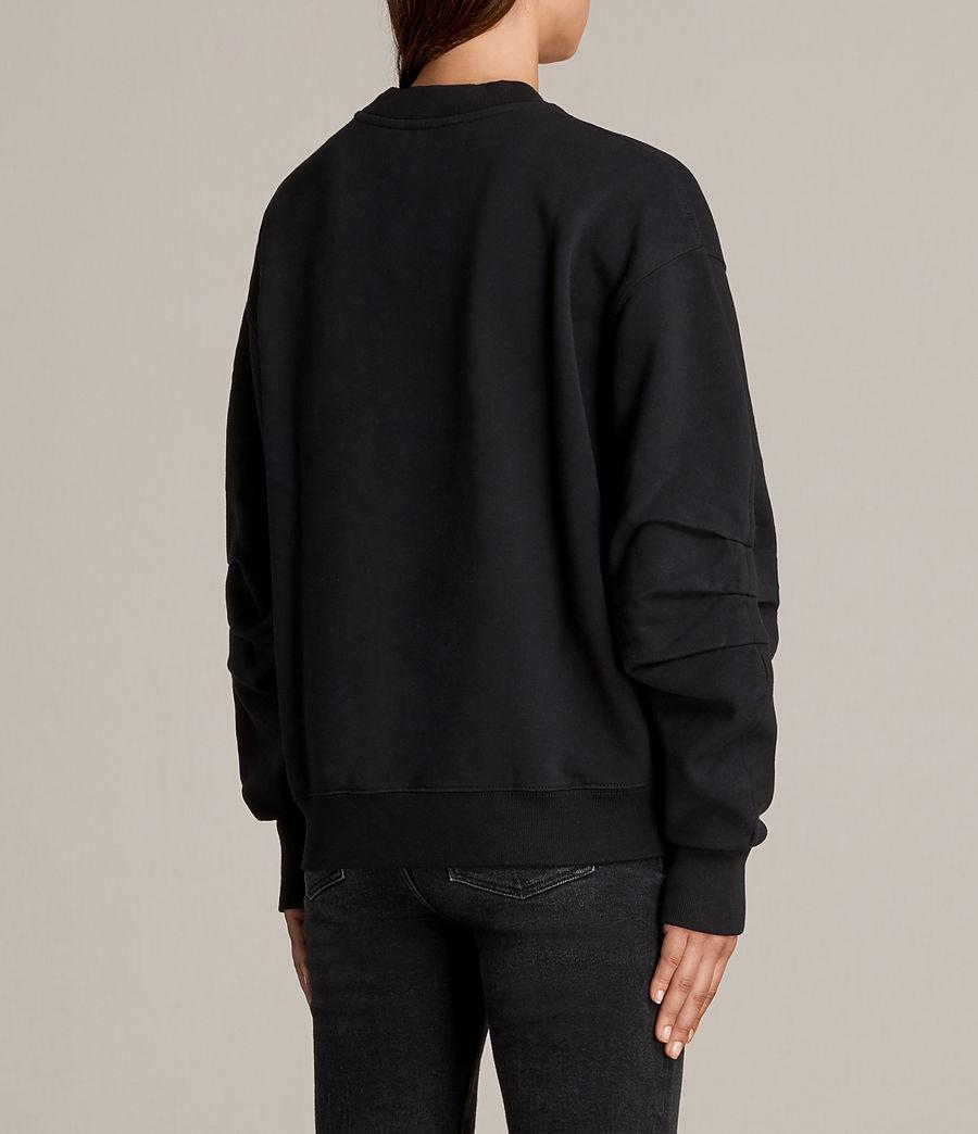 Women's Violet Crew Sweatshirt (jet_black) - Image 3