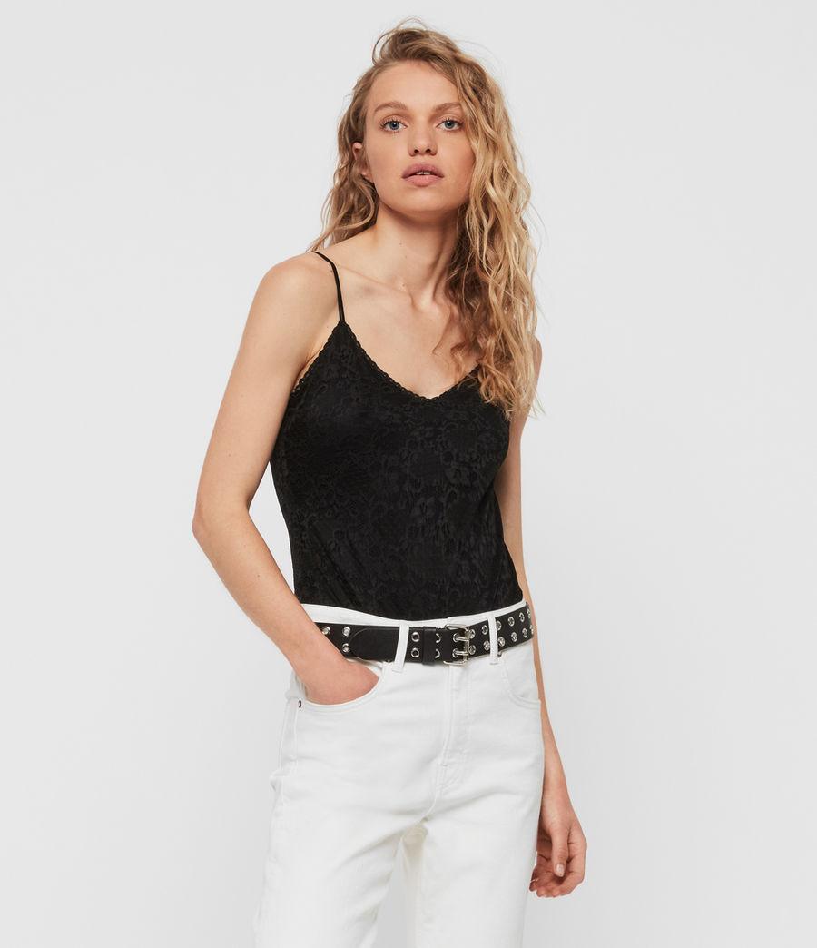 Womens Rosalie Lace Bodysuit (black) - Image 2
