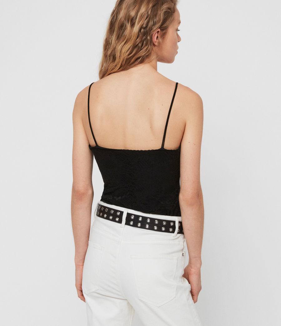 Womens Rosalie Lace Bodysuit (black) - Image 5