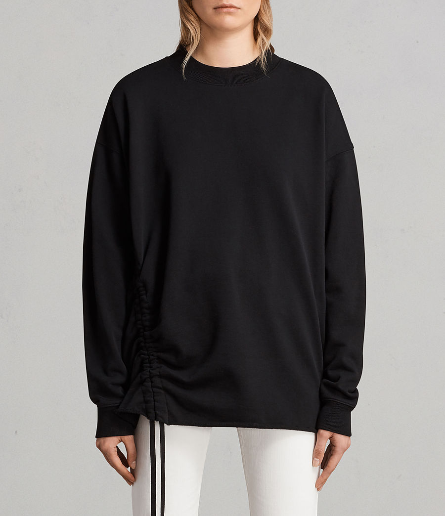 Damen Able Sweatshirt (jet_black) - Image 1