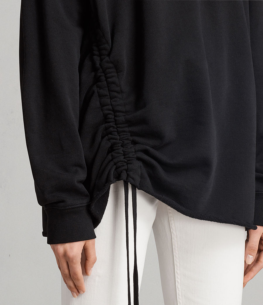 Damen Able Sweatshirt (jet_black) - Image 2