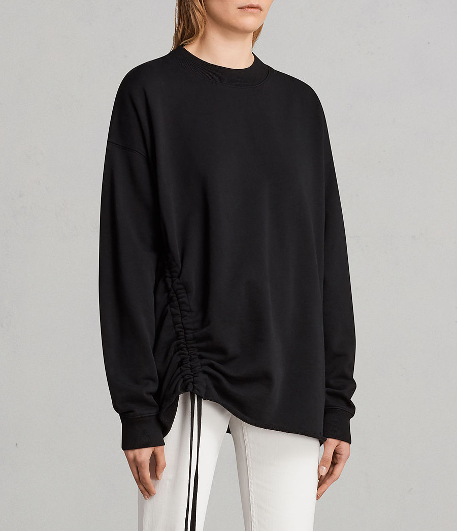 Damen Able Sweatshirt (jet_black) - Image 3