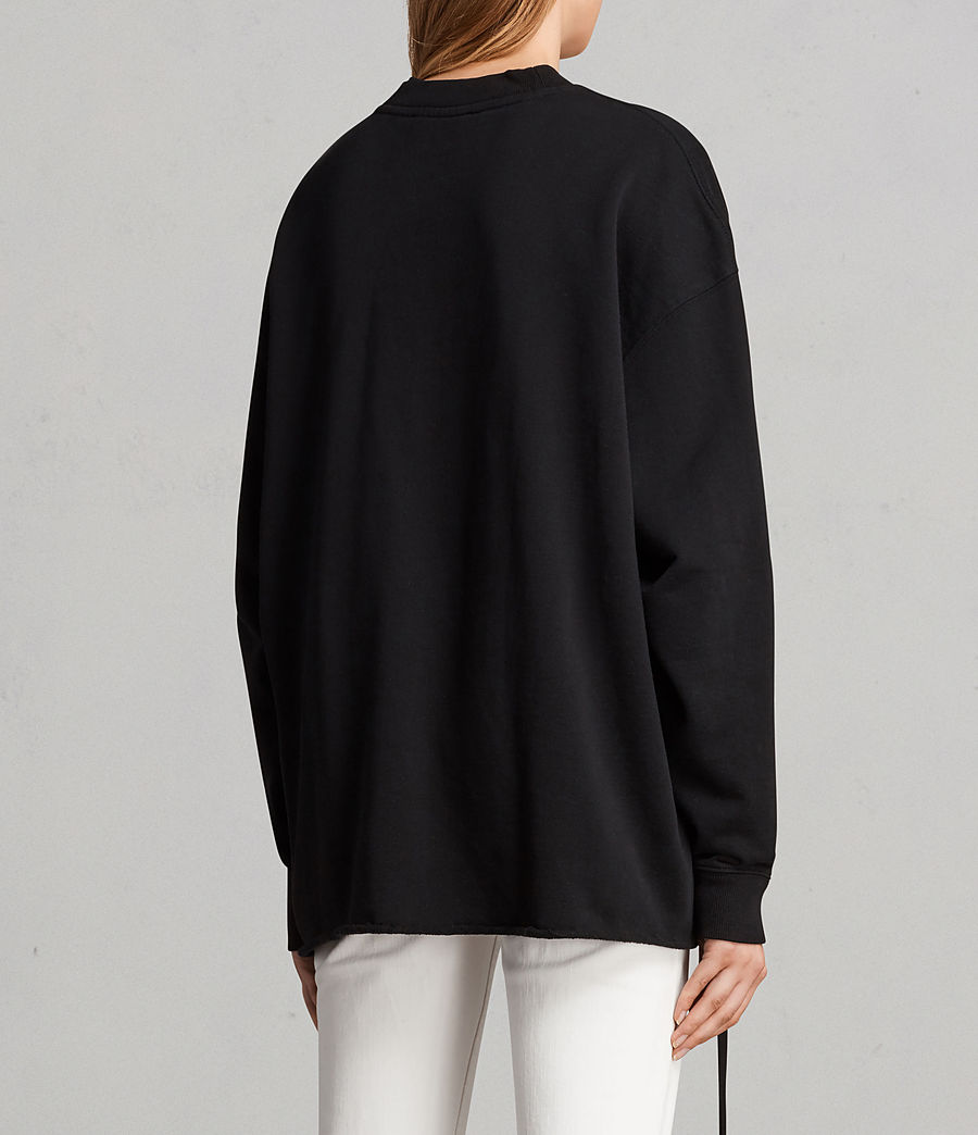 Damen Able Sweatshirt (jet_black) - Image 4
