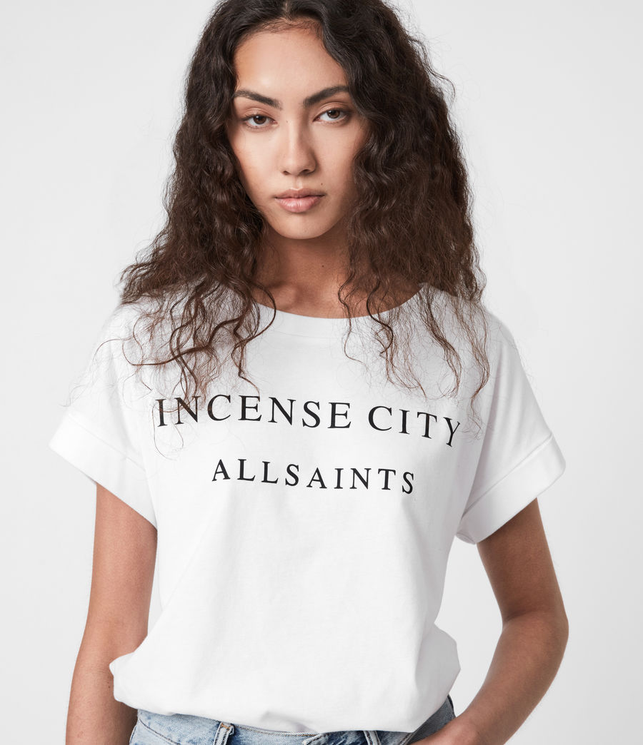 Womens Incense City Imogen T-Shirt (white) - Image 4