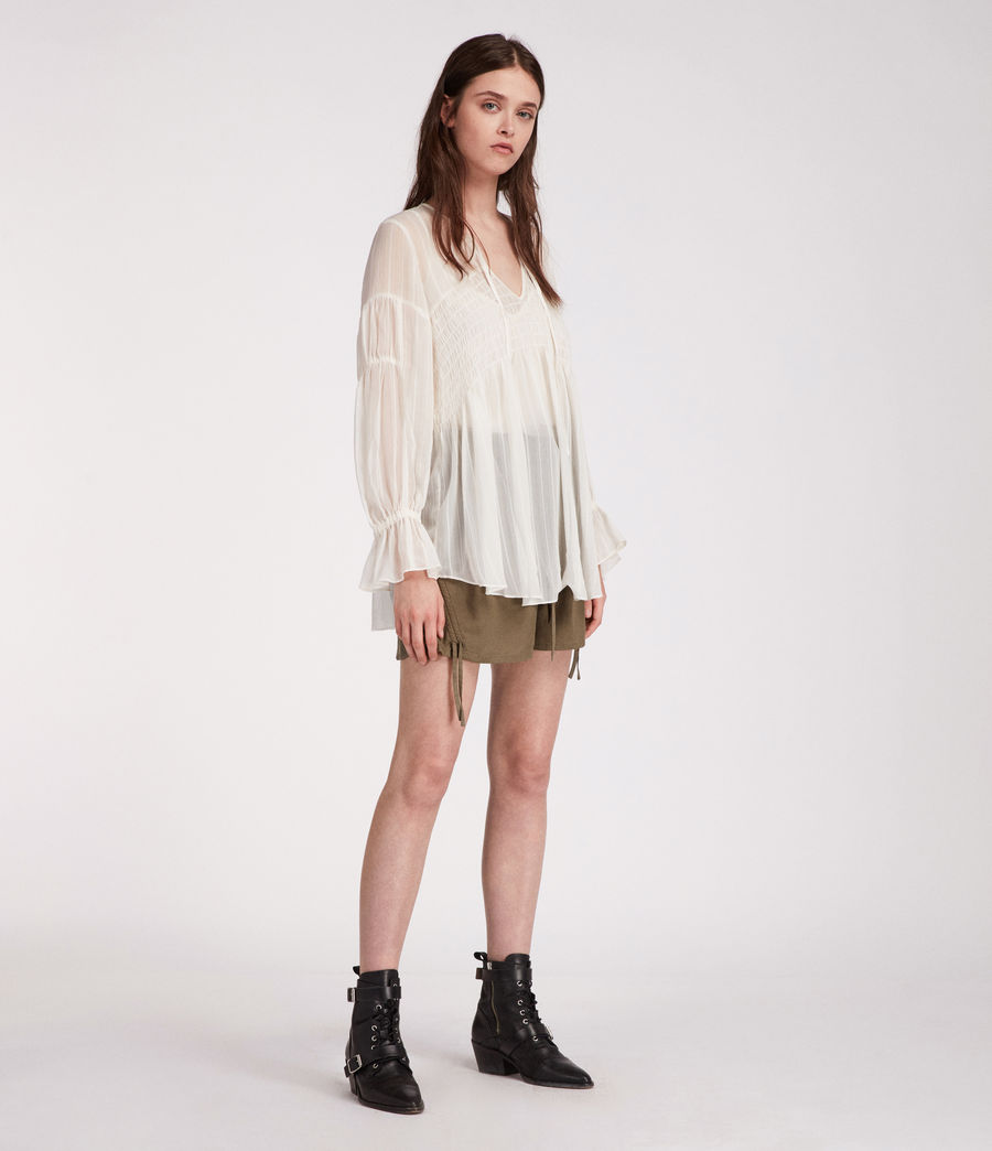 Women's Lucinda Top (chalk_white) - Image 1
