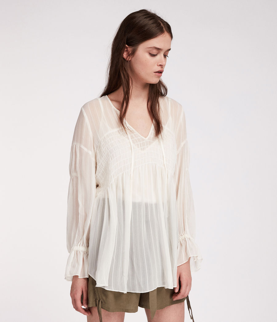 Women's Lucinda Top (chalk_white) - Image 4
