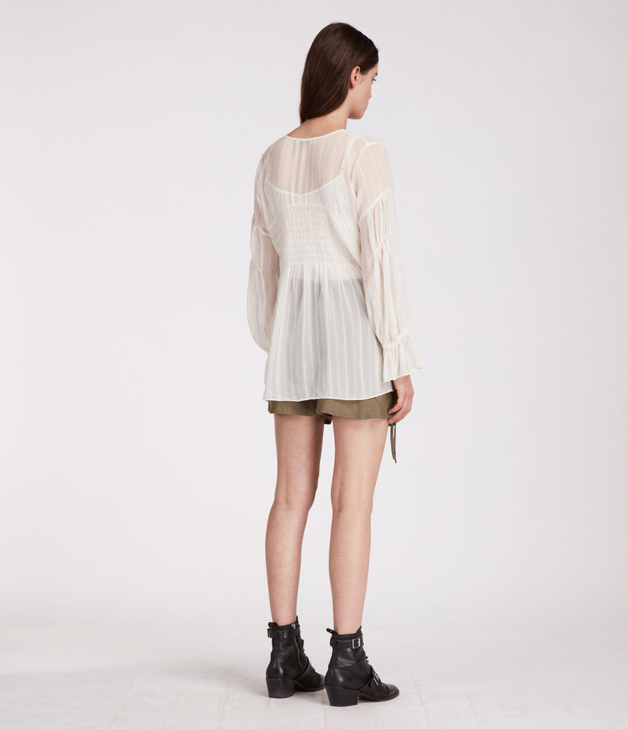 Women's Lucinda Top (chalk_white) - Image 5