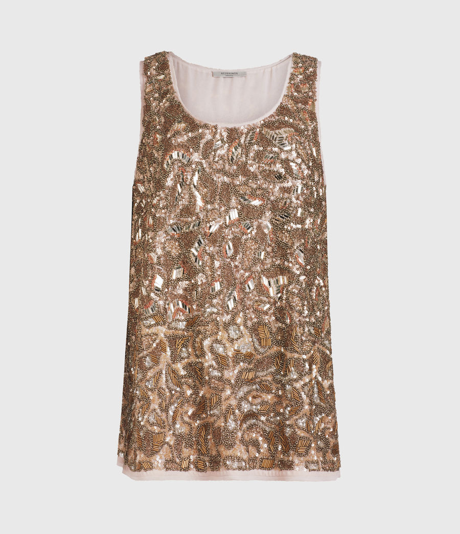 Women's Brellie Embellished Top (gold) - Image 2