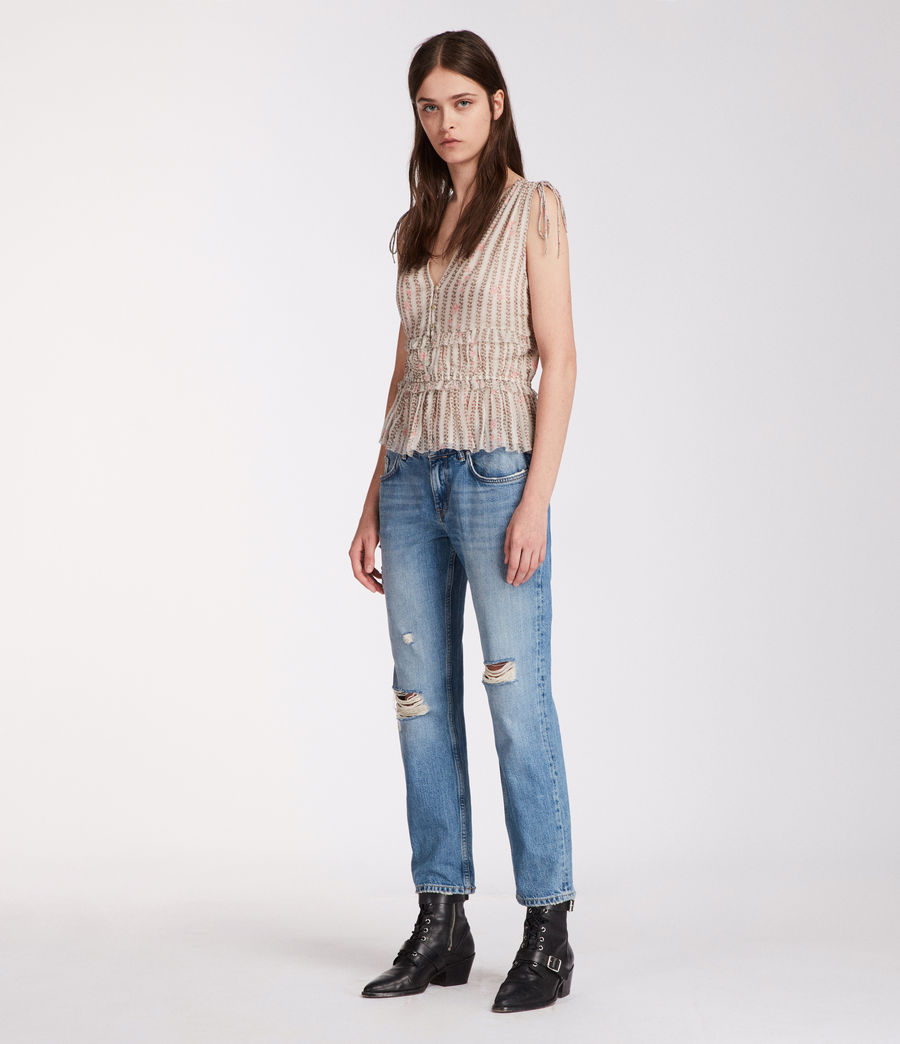 Womens Annie Nomy Top (pearl_grey) - Image 3