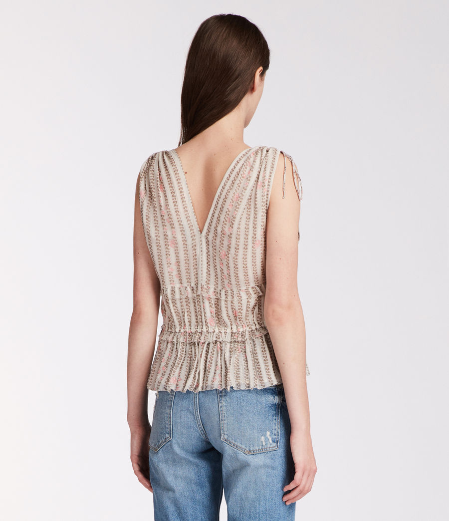 Womens Annie Nomy Top (pearl_grey) - Image 4