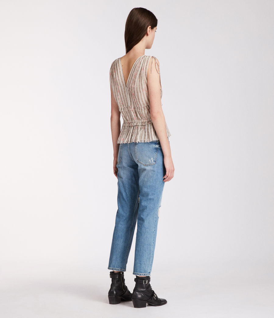 Womens Annie Nomy Top (pearl_grey) - Image 5