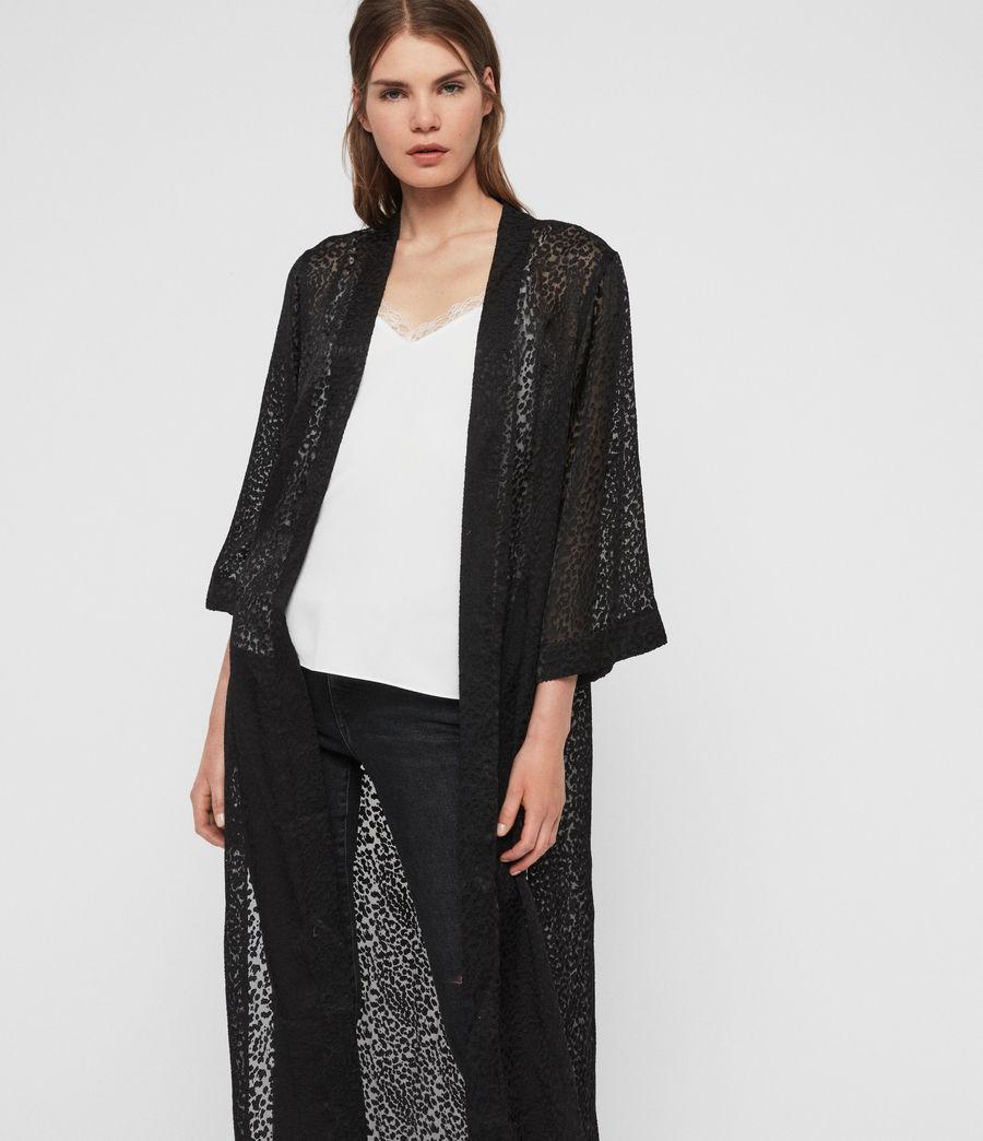 Damen Carine Devore Kimono (black) - Image 1