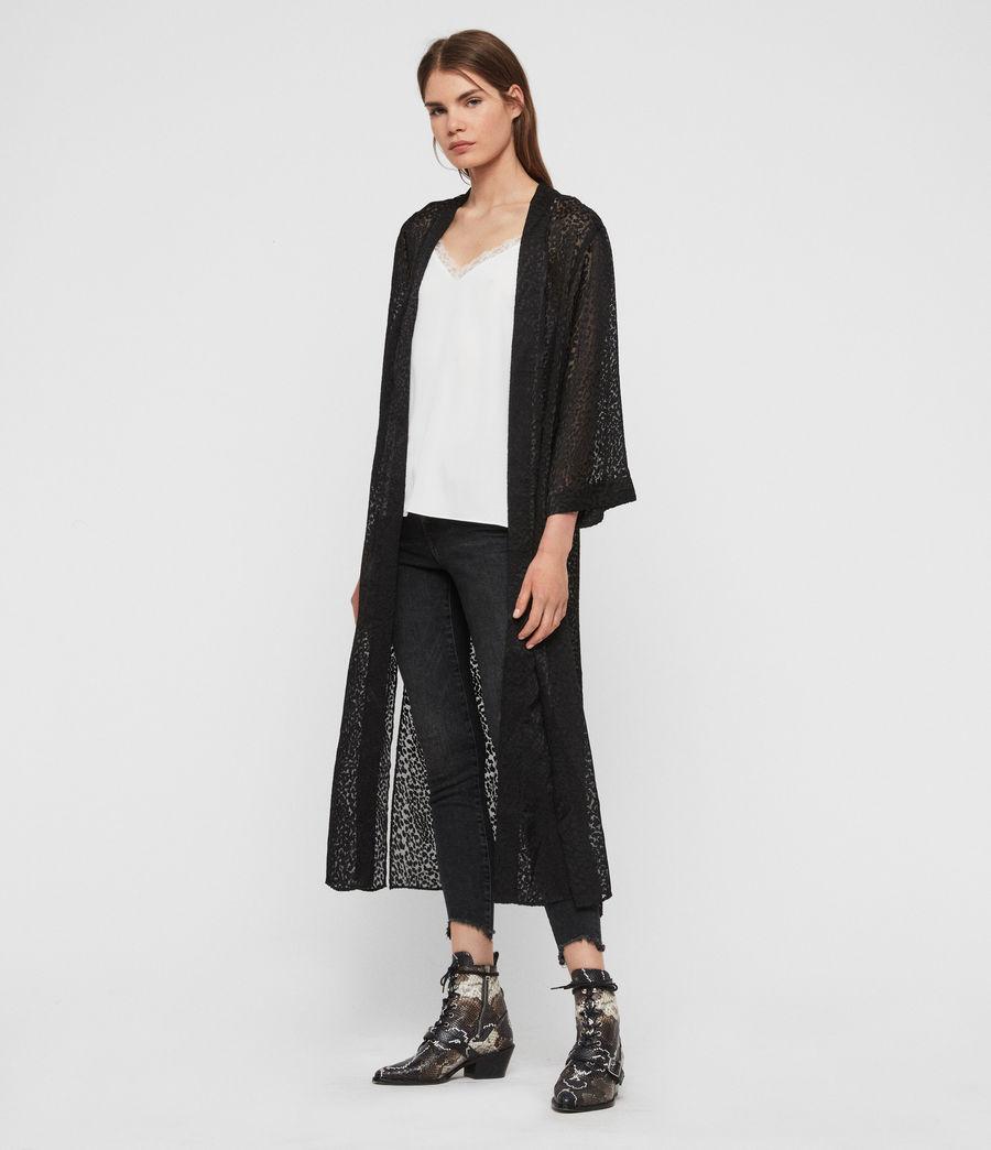 Damen Carine Devore Kimono (black) - Image 2