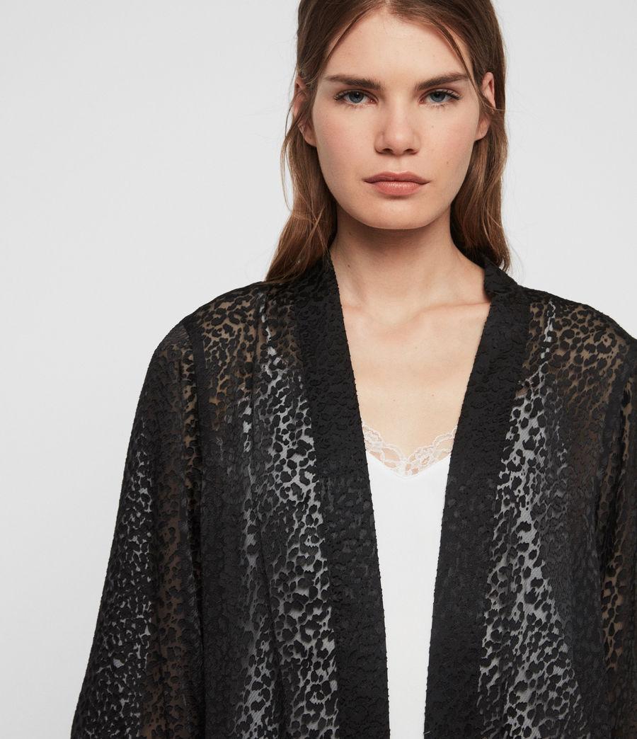 Damen Carine Devore Kimono (black) - Image 3