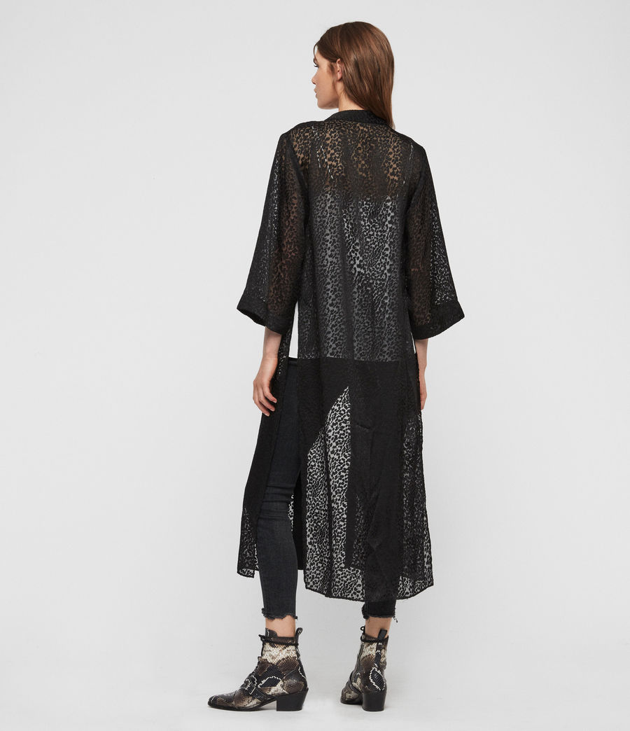 Damen Carine Devore Kimono (black) - Image 5