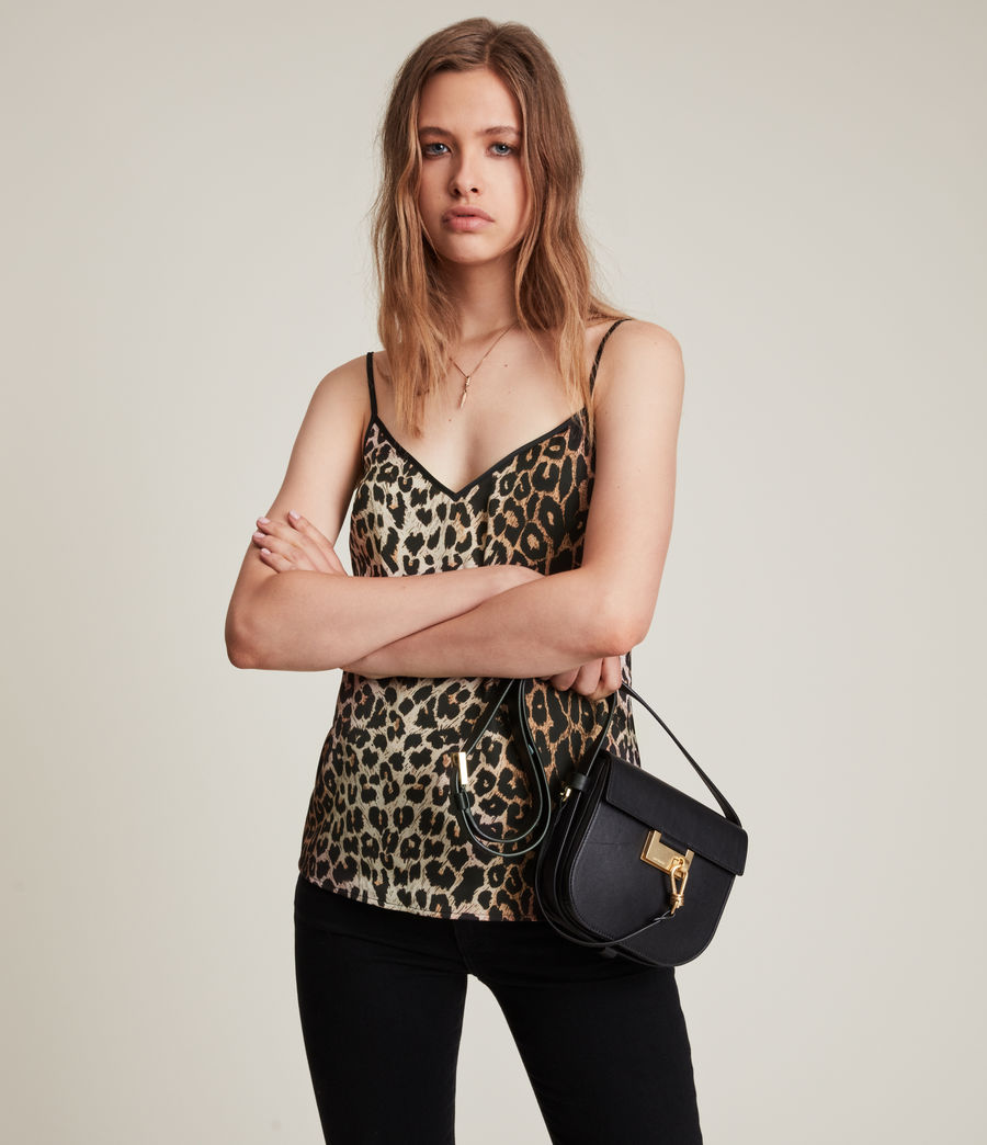 Womens Tammy Leppo Top (leopard_yellow) - Image 1