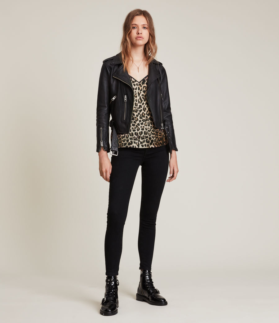 Womens Tammy Leppo Top (leopard_yellow) - Image 3