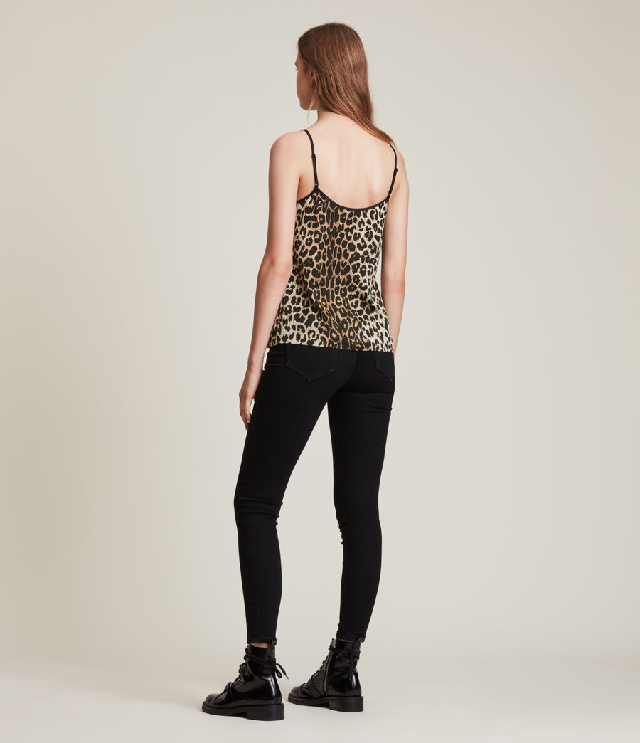 Womens Tammy Leppo Top (leopard_yellow) - Image 4