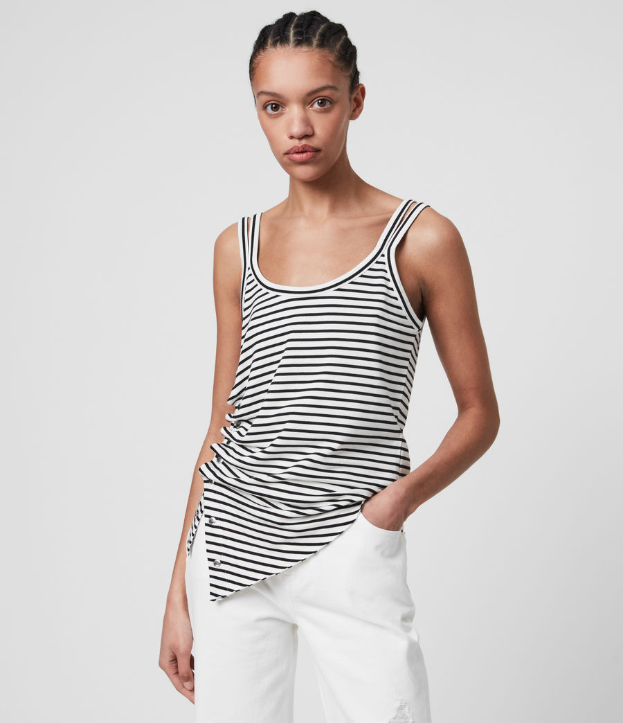 Women's Hatti Stripe Cami (chalk_black) - Image 1