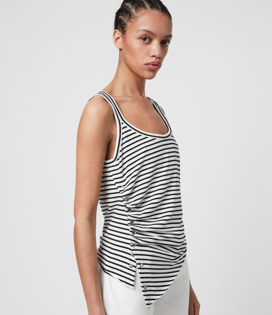 Womens Hatti Stripe Cami (chalk_black) - Image 3