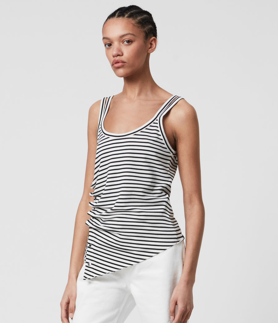 Womens Hatti Stripe Cami (chalk_black) - Image 4