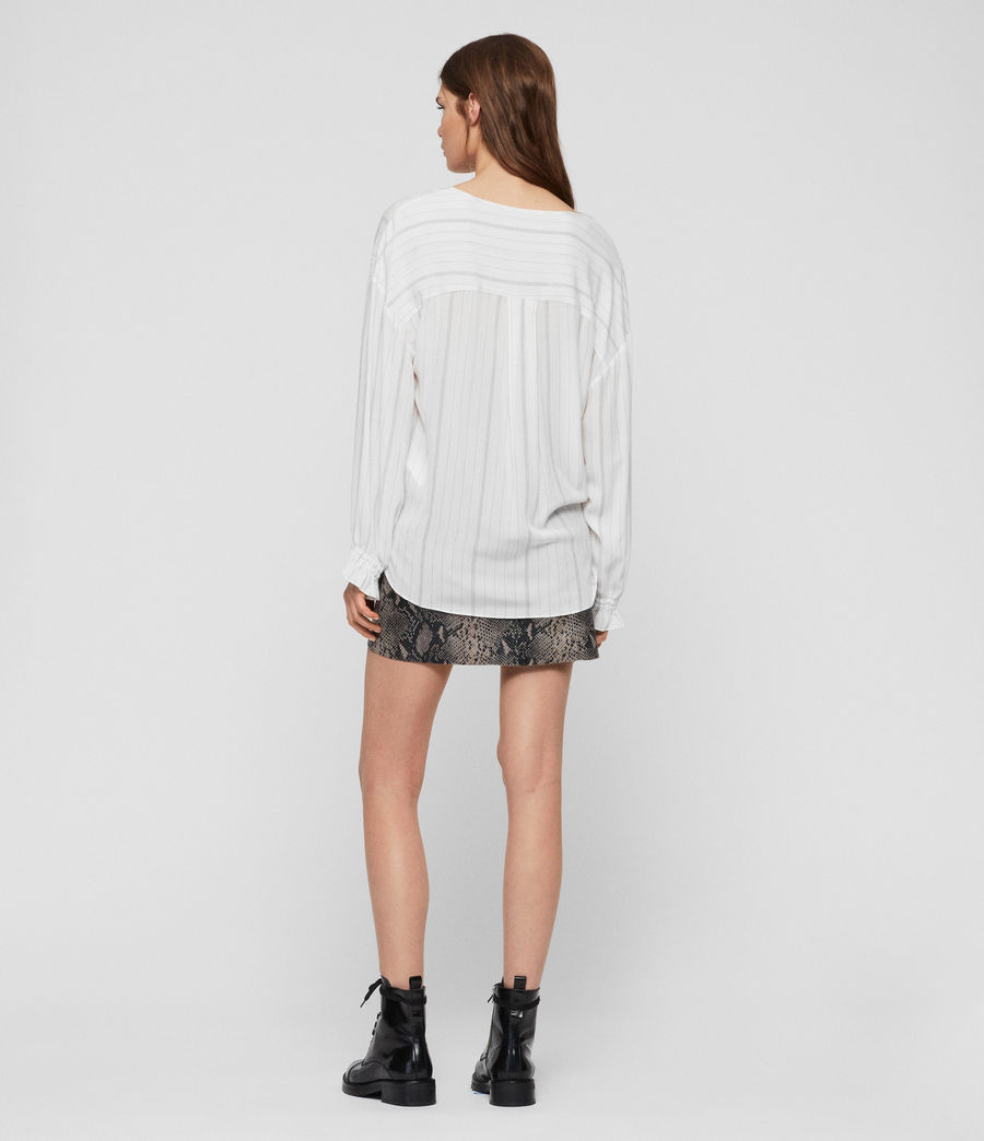 Womens Penny Stripe Top (chalk_white_grey) - Image 4