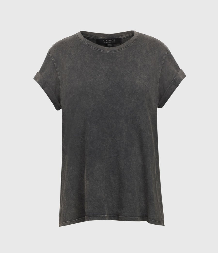 Women's Anna T-Shirt (acid_washed_black) - Image 2