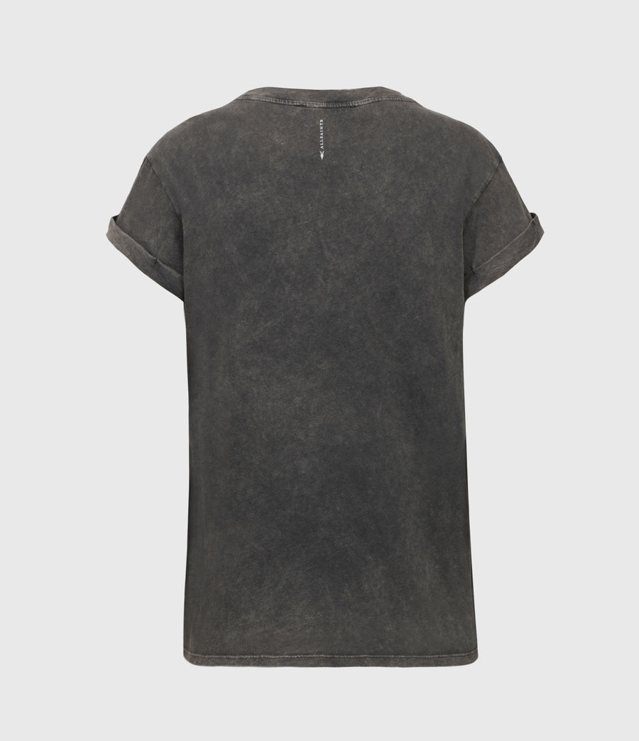 Damen Anna T-Shirt (acid_washed_black) - Image 3