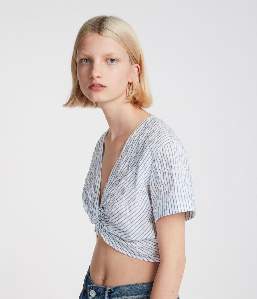 Women's Alana Top (blue_chalk_white) - Image 1