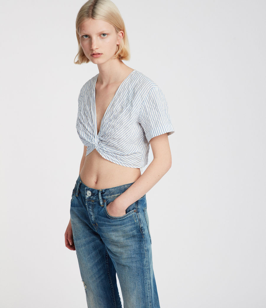 Women's Alana Top (blue_chalk_white) - Image 2