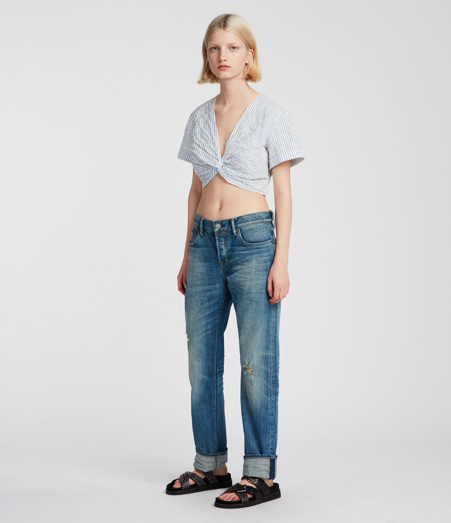Women's Alana Top (blue_chalk_white) - Image 3