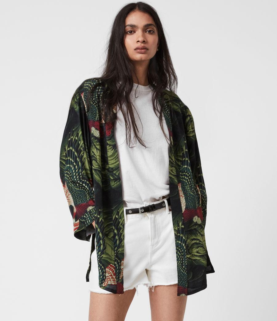 Womens Carina Swoop Kimono (moss_green) - Image 1