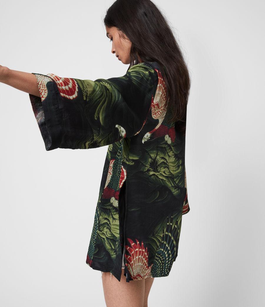 Womens Carina Swoop Kimono (moss_green) - Image 4