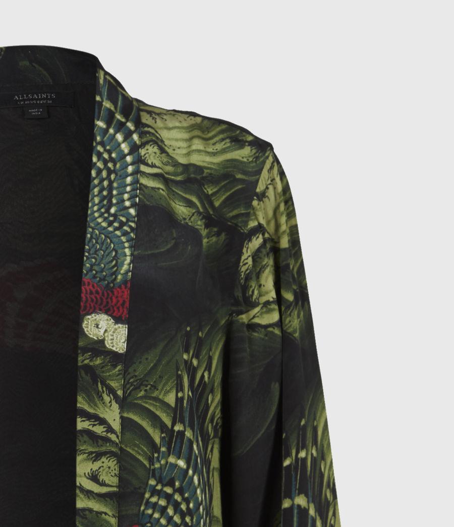 Womens Carina Swoop Kimono (moss_green) - Image 5