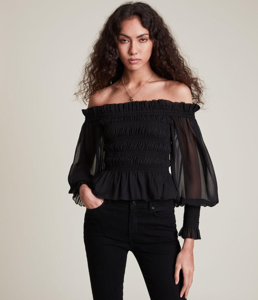 Women's Lara Top (black) - Image 1